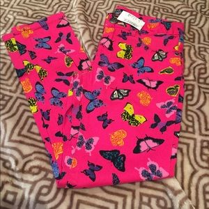 NWT💥Girl's butterfly jeggings